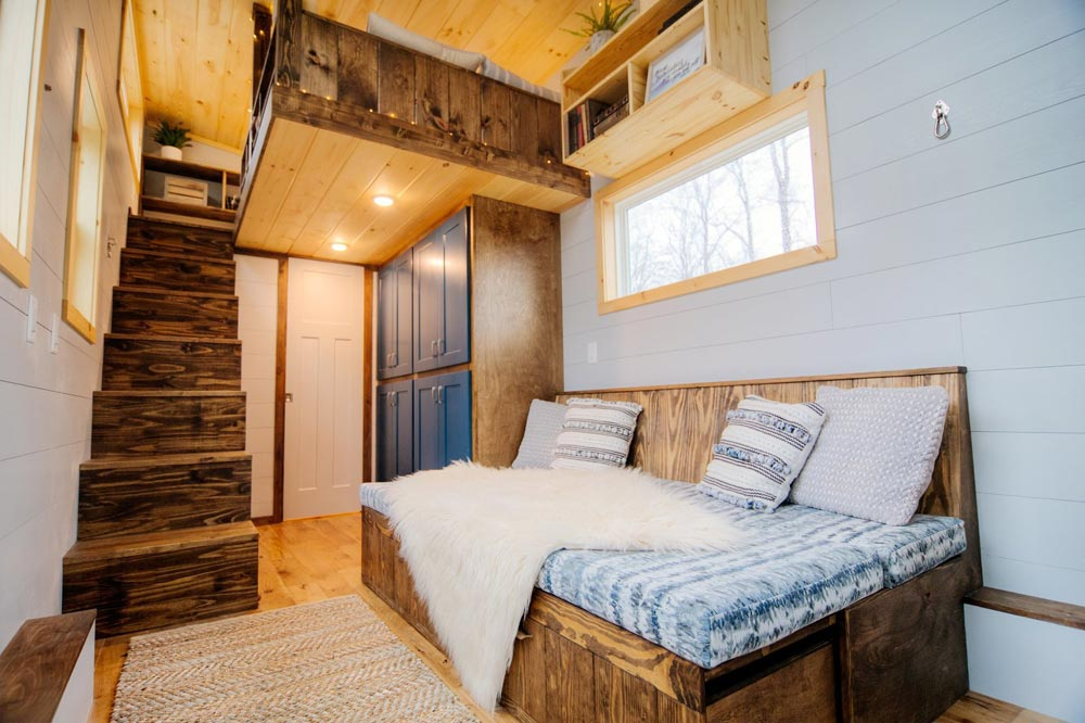 Built-In Sofa Bed - Lykke by Wind River Tiny Homes