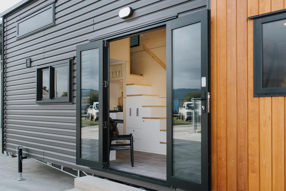 Double Door Entry - Kingfisher Tiny House by Build Tiny