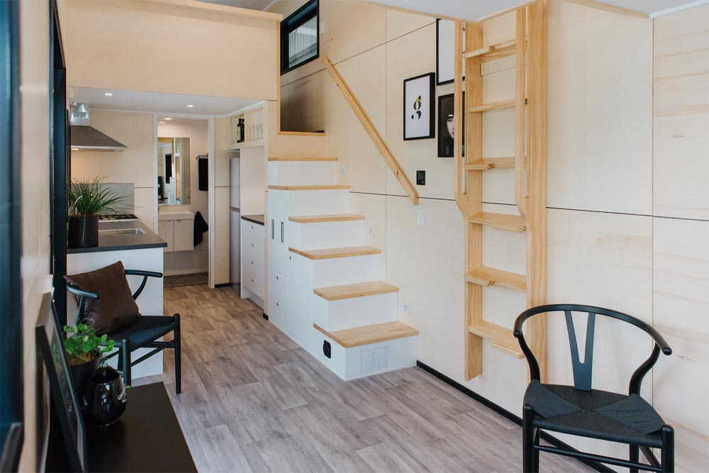 Kitchen & Stairs - Kingfisher Tiny House by Build Tiny