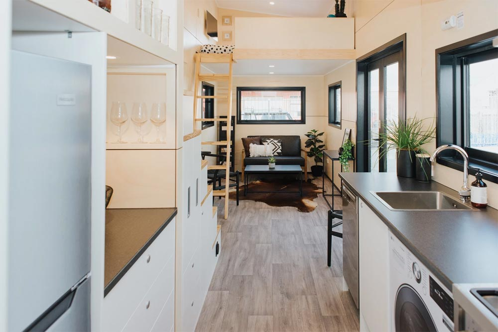 Kitchen & Living Room - Kingfisher Tiny House by Build Tiny