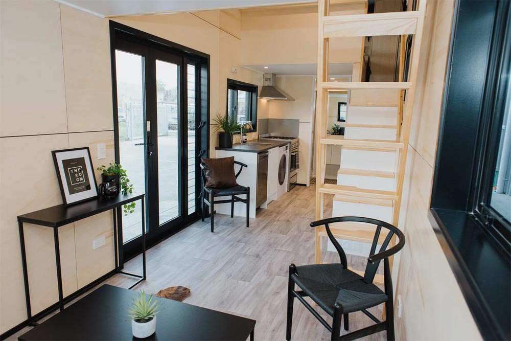 Double French Doors - Kingfisher Tiny House by Build Tiny