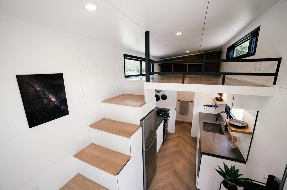Kitchen & Loft - Kubrick by Wind River Tiny Homes
