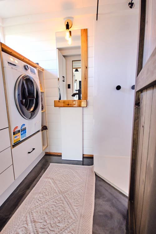 Washer/Dryer Space - Little Sojourner by Häuslein Tiny House Co