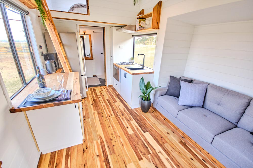 Cypress Pine Flooring - Little Sojourner by Häuslein Tiny House Co