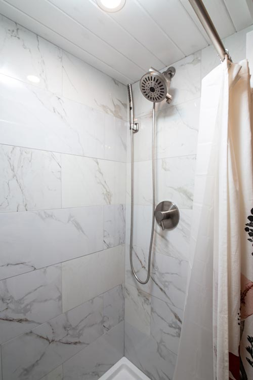 Tile Shower - Burmenbov by Willowbee Tiny Homes