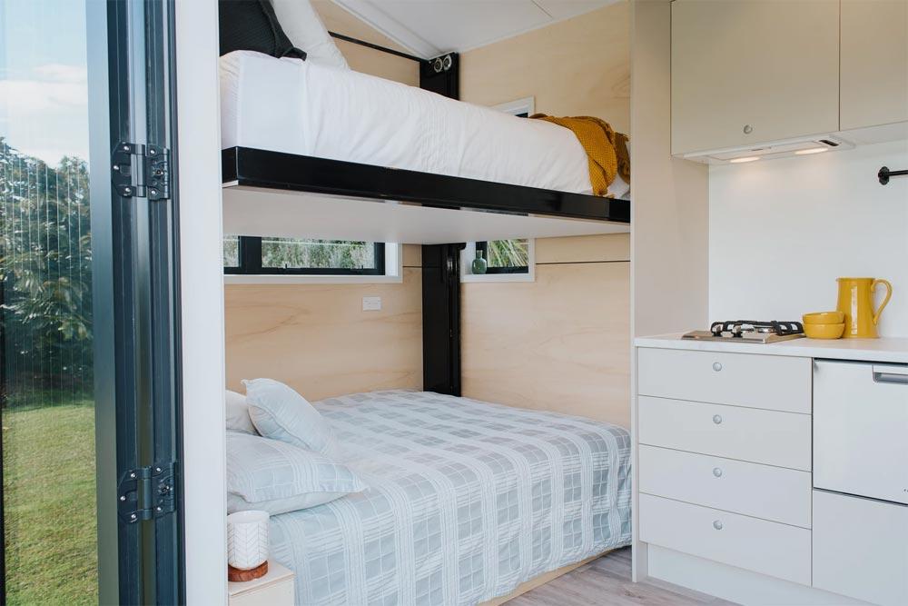 Custom Bed Setup - Camper Tiny House by Build Tiny