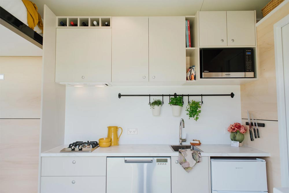 Vertical Storage - Camper Tiny House by Build Tiny