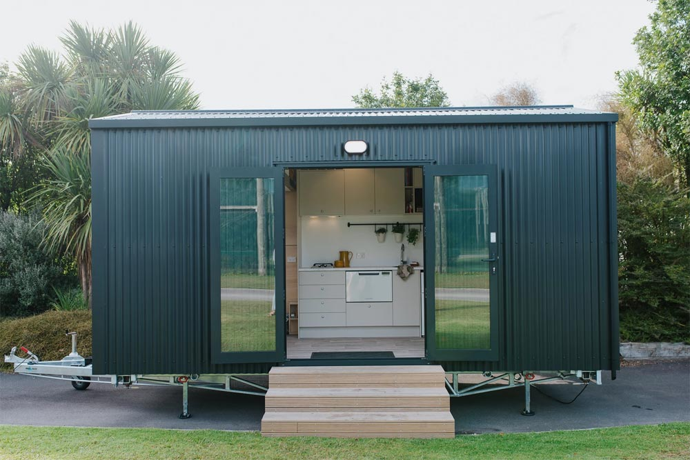 Double Entry Doors - Camper Tiny House by Build Tiny