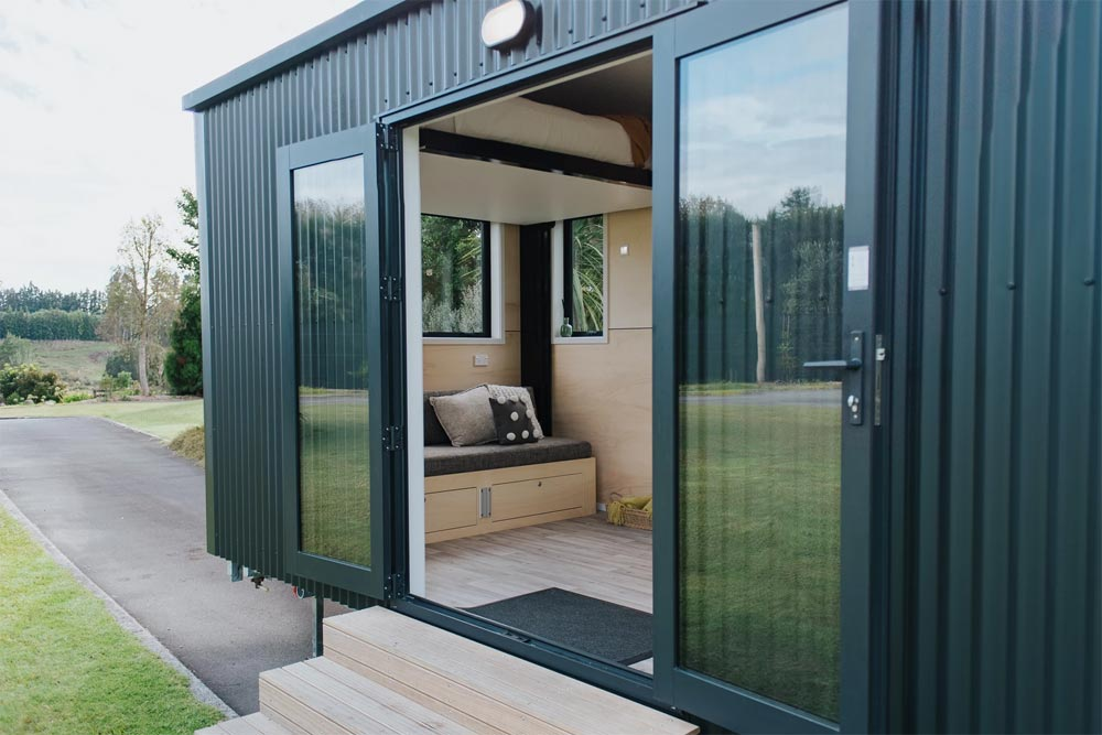 Full Light French Doors - Camper Tiny House by Build Tiny