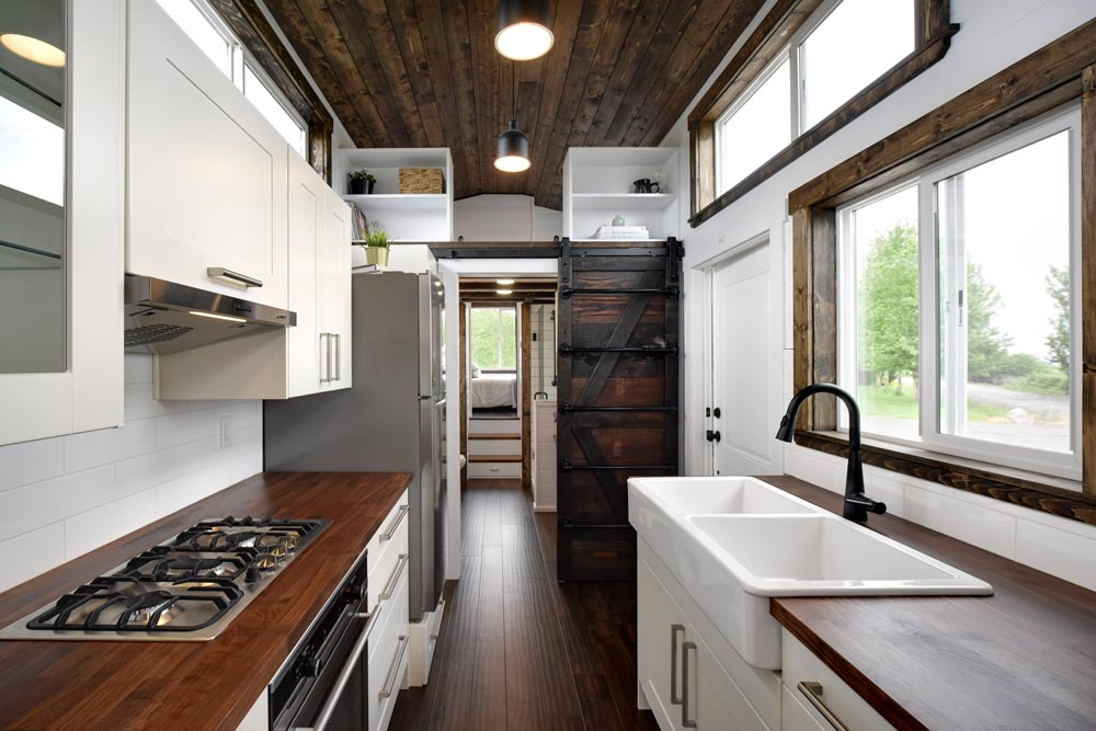 Galley Kitchen - Canada Goose by Mint Tiny Homes