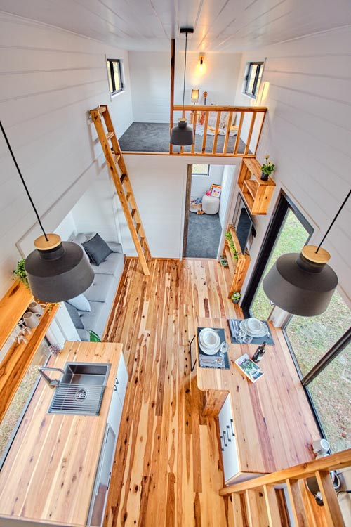Aerial View - Grand Sojourner by Häuslein Tiny House Co