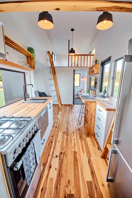 Cypress Pine Flooring - Grand Sojourner by Häuslein Tiny House Co