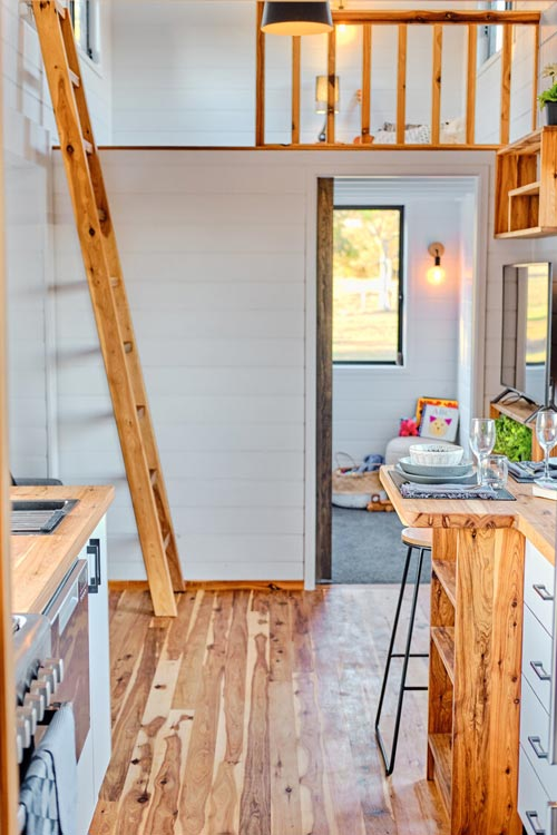 Kitchen & Living Room - Grand Sojourner by Häuslein Tiny House Co
