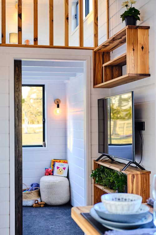 Entertainment Center - Grand Sojourner by Häuslein Tiny House Co