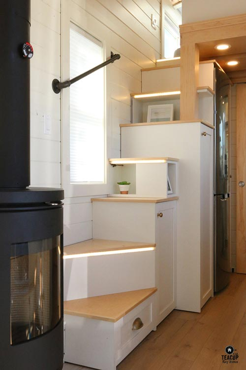 Storage Stairs - Innisfree Anarres by Teacup Tiny Homes