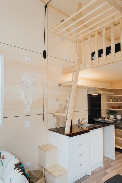 Custom Loft Ladder - Kahurangi Koinga by Build Tiny