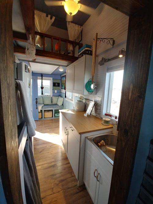 Kitchen & Living Room - Blue Baloo by Far Out Tiny Homes