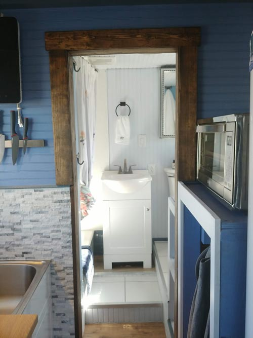 Kitchen & Bathroom - Blue Baloo by Far Out Tiny Homes