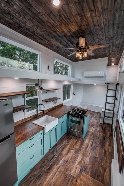Kitchen & Catwalk - 34' Magnolia by Indigo River Tiny Homes