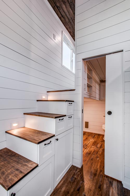 Storage Stairs - 34' Magnolia by Indigo River Tiny Homes