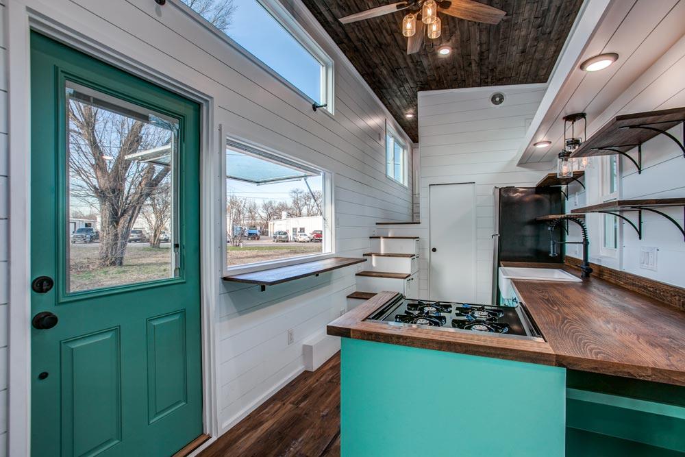 L-Shaped Kitchen - 34' Magnolia by Indigo River Tiny Homes