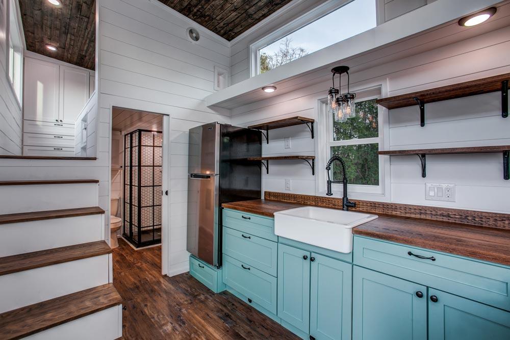 Kitchen Cabinets - 34' Magnolia by Indigo River Tiny Homes