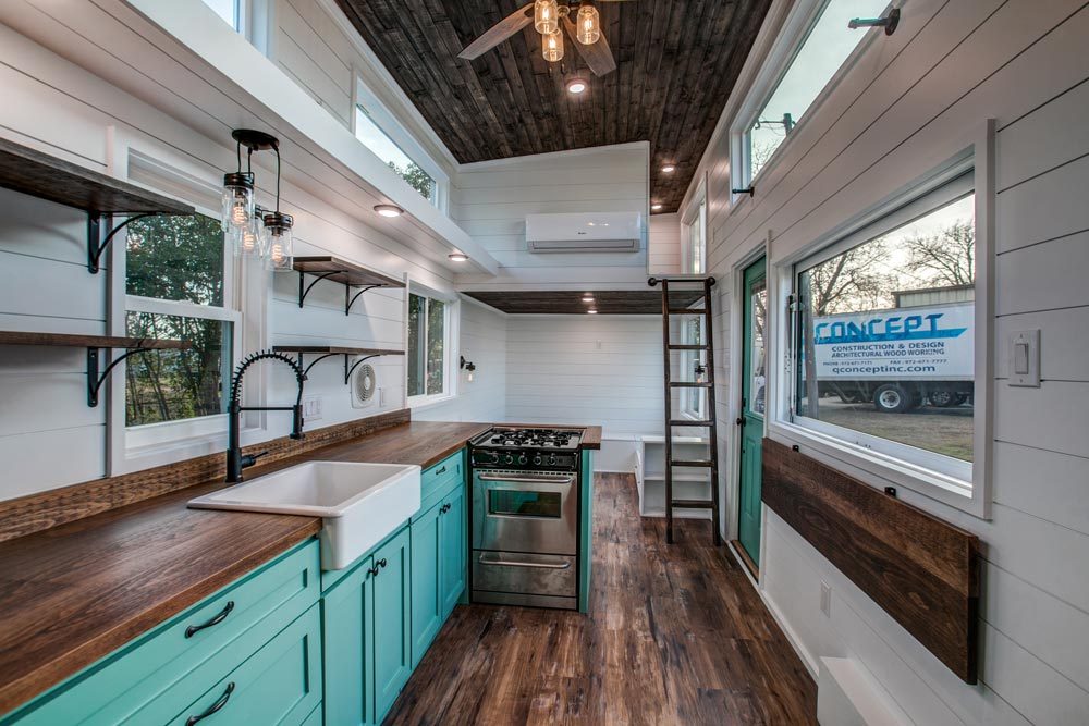 Kitchen & Serving Window - 34' Magnolia by Indigo River Tiny Homes
