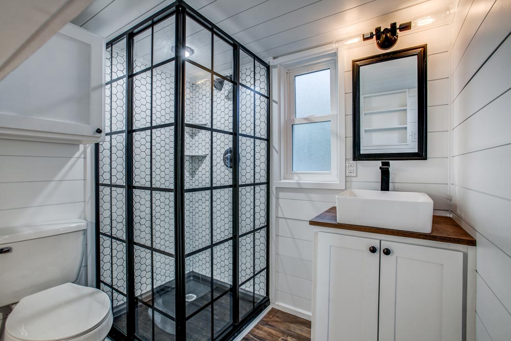 Shower & Vessel Sink - 34' Magnolia by Indigo River Tiny Homes