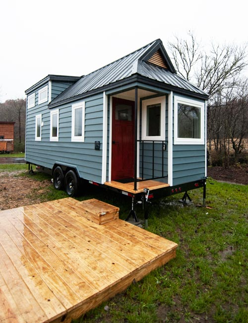 Tiny House Deck - Looking Glass by Red Crown Tiny Homes