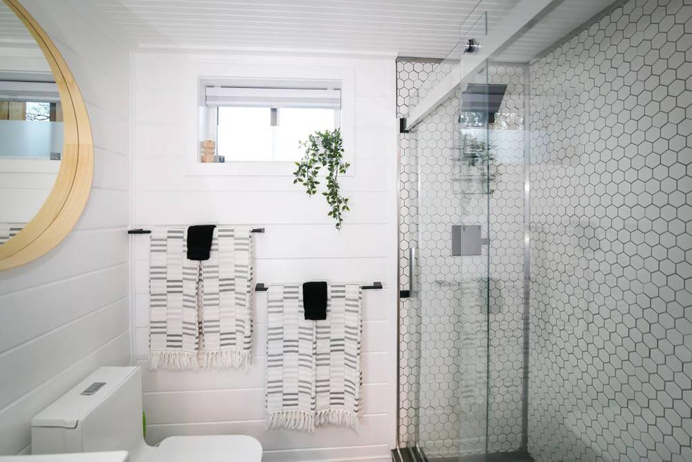 Glass Shower Door - A Tiny Slice of Heaven by Alternative Living Spaces