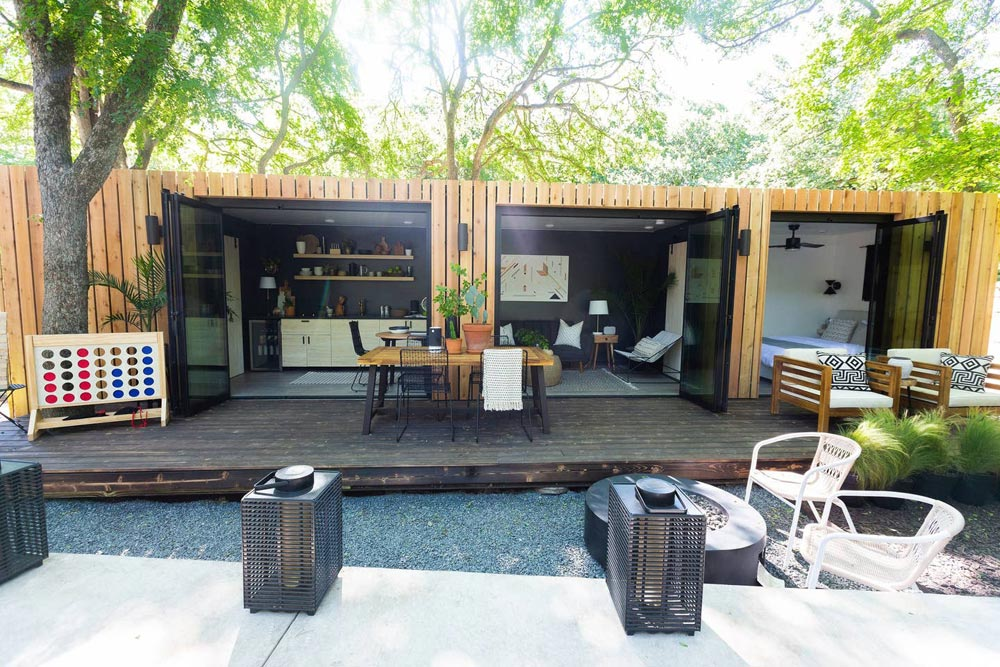 Woodsy Shipping Container Tiny Home