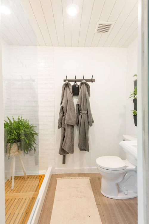 Bathroom - Woodsy Shipping Container Tiny Home