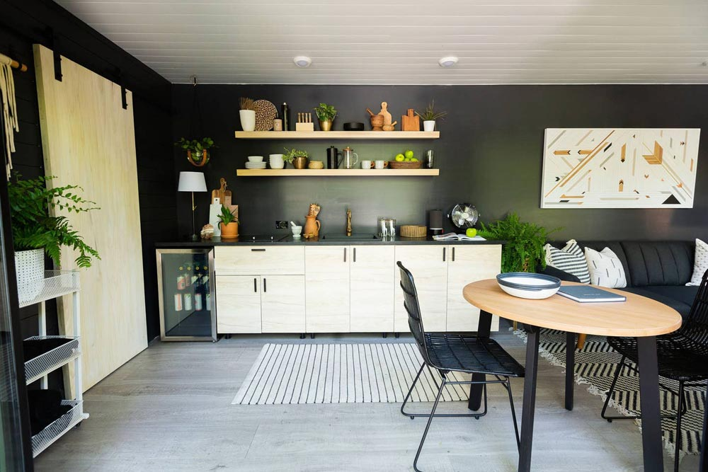 Kitchen - Woodsy Shipping Container Tiny Home
