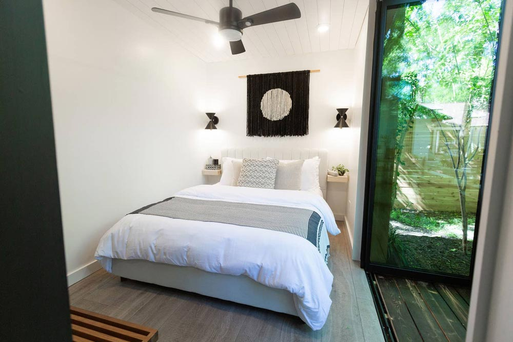 Bedroom - Woodsy Shipping Container Tiny Home