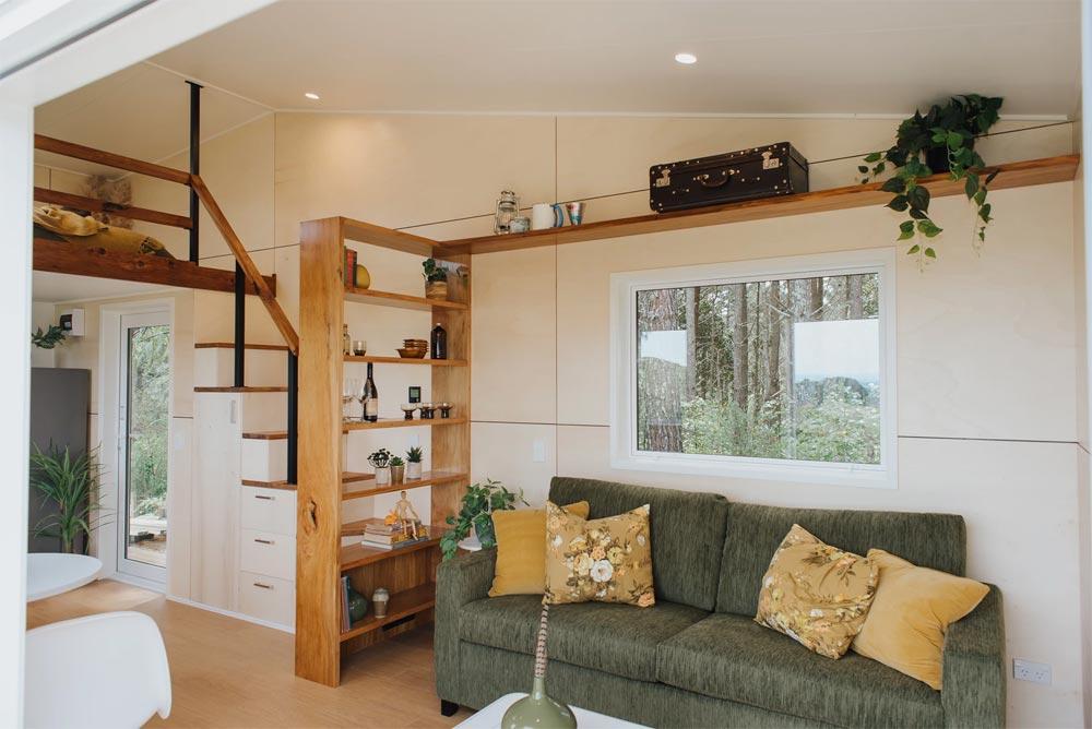 Living Room - Cherry Picker Tiny House by Build Tiny