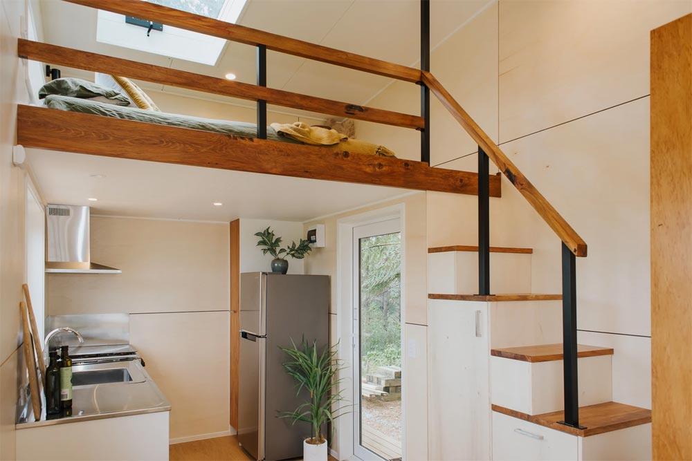Storage Stairs - Cherry Picker Tiny House by Build Tiny