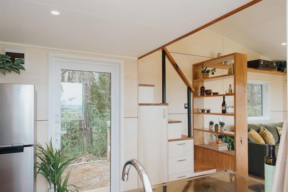 Rear Entry Door - Cherry Picker Tiny House by Build Tiny
