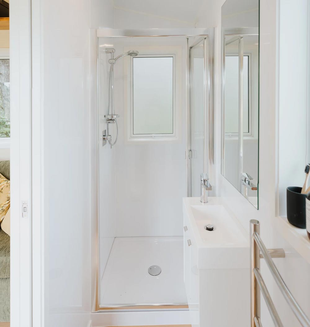 Sink & Shower - Cherry Picker Tiny House by Build Tiny