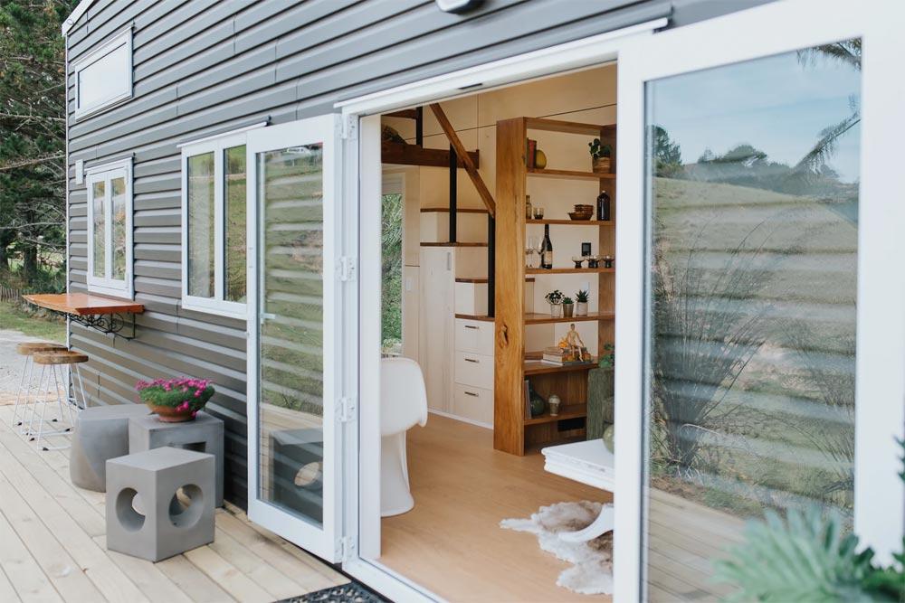 Full Light Double Doors - Cherry Picker Tiny House by Build Tiny