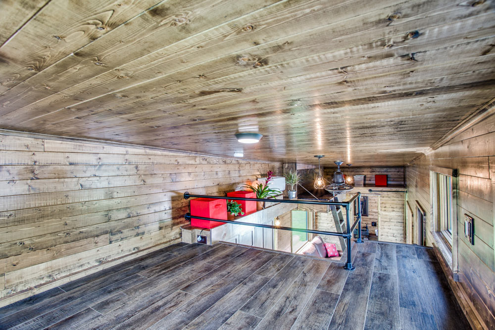 Bedroom Loft - Thoreau by Indigo River Tiny Homes
