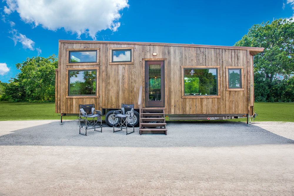 Shou Sugi Ban Finish - Thoreau by Indigo River Tiny Homes