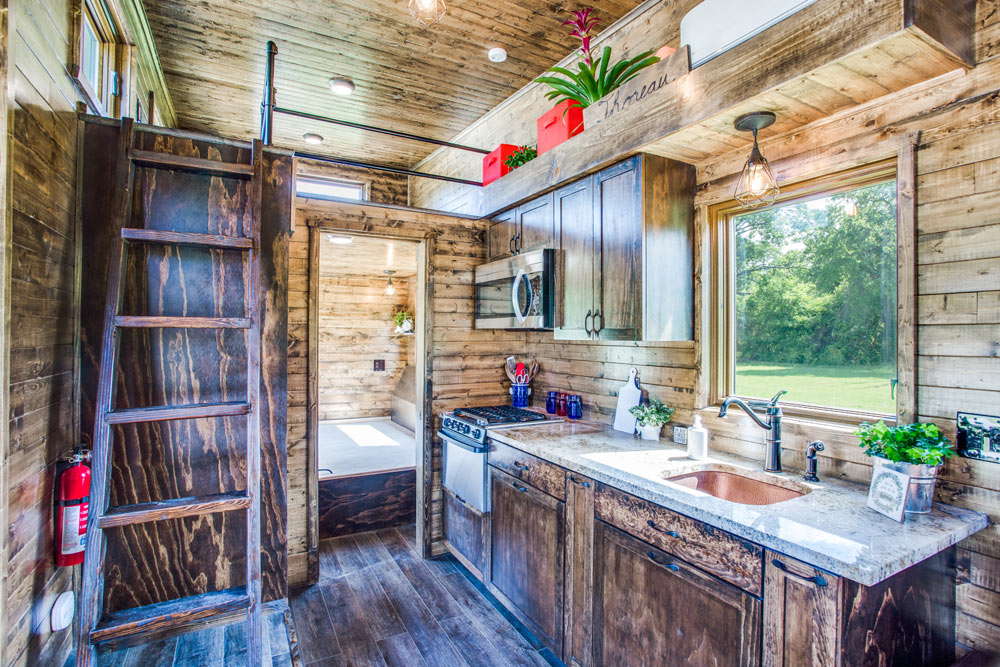 Kitchen w/ Granite - Thoreau by Indigo River Tiny Homes