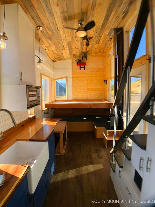 Bed Lowered Down - Timberwolf by Rocky Mountain Tiny Houses