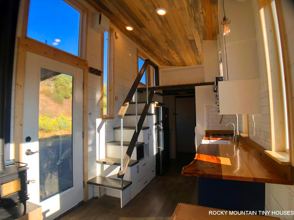 Storage Stairs - Timberwolf by Rocky Mountain Tiny Houses