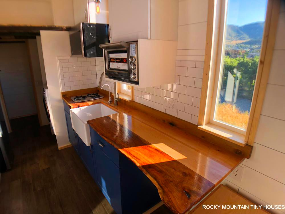 Live Edge Counter - Timberwolf by Rocky Mountain Tiny Houses