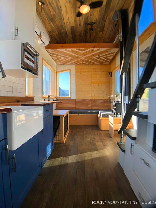 Kitchen & Living Area - Timberwolf by Rocky Mountain Tiny Houses