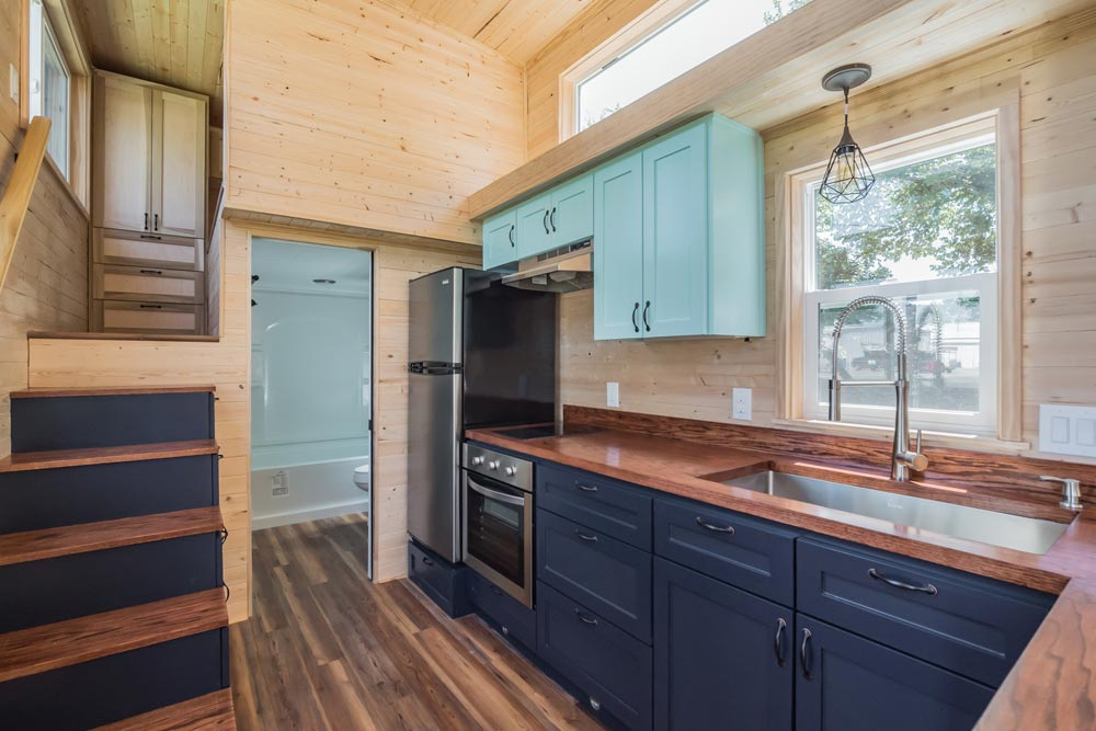 Kitchen w/ Upper Cabinets - Wanderlust by Indigo River Tiny Homes