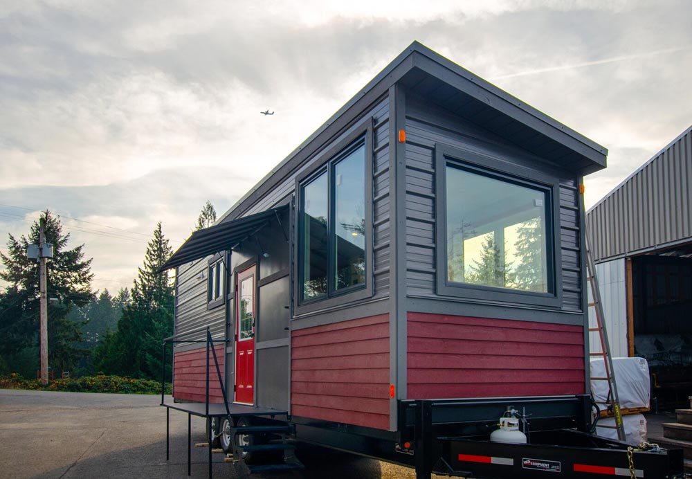 Gray & Red Exterior - Calliope by Rewild Homes