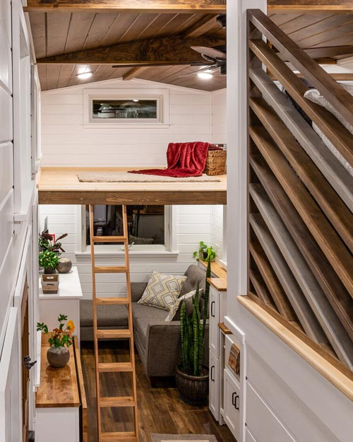 Second Loft - Nicole's Tiny House by MitchCraft Tiny Homes