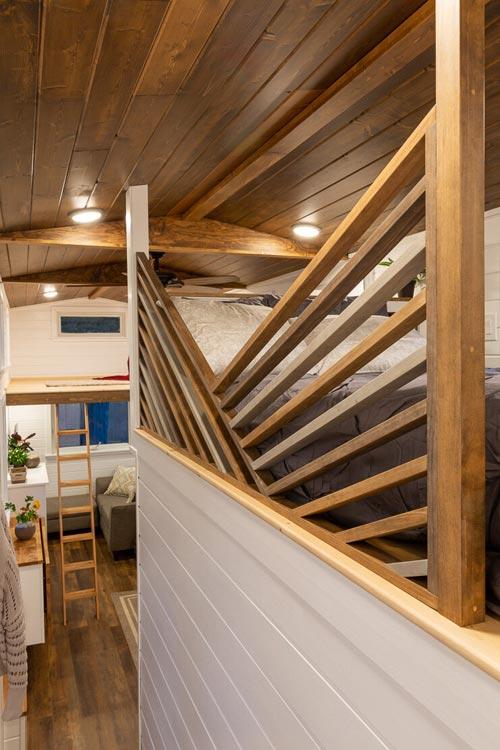 Custom Railing - Nicole's Tiny House by MitchCraft Tiny Homes
